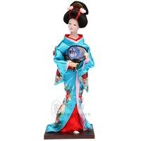 Bambola della bambola del kimono di Tang Fang autentica signora giapponese Decor mestieri di legno di seta giapponese