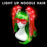 Halloween most hot style light- emitting braid network admini...