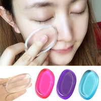 Clear Powder Puff Transparent Silicone Face Foundation Tool ...