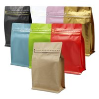 30Pcs Lot Matte Aluminum Foil Coffee Packaging Zip Lock Bag ...