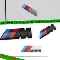3D ABS M Power Side Side Fender Insignia Sticker Decal 45MM /// M Emblema Tronco Trasero para 3 5 Serie X3 X5 X6 F10 F30 E46 E90 E36