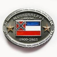 Männer Gürtelschnalle New Vintage Mississippi State Flag Oval Gürtelschnalle Gürtelschnalle Boucle de ceinture SCHNALLE-FG013 Brand New