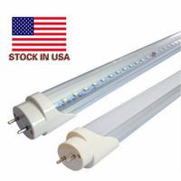 Lager i USA + 18W G13 4FT 120cm LED-rör Lyser 6000K-6500k kallt vitt starkt snabbt fartyg 3-5 dagar