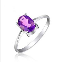 Romantic ring for wedding 100% natural amethyst crystal ring...