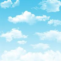 5x7ft Nuvole bianche Cielo blu Sfondi fotografici per bambini Bambini Neonato Servizio fotografico Studio fotografico Puntelli Fondali fotografici