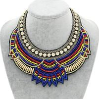 BOSEWIN Moda Feito à Mão Gargantilha Colar étnica Bib Collares Multicolor Beads Boho Declaração Jóias Mulheres Acessórios 2017