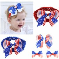 Sale American Flag Headband for children Hairbows Hairpin fo...