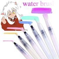 6 قطع وازم الفن فرشاة الكتابة شكل مختلف برميل المياه القلم المائية اللوحة الترويجية قلم الخط