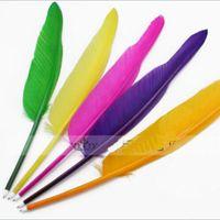 Stylo à bille de stylo de pluie d'oie de bricolage pour stylo à bille pour fête de mariage 130pcs = 1 sac de mixage de sac