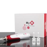 автоматический электрический MYM дермы ручка с 2 патронами! электрическая дермы марка микро иглы дермы ручка ролика