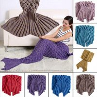 Hand Crocheted Mermaid Tail Blanket 195*90cm Adults Soft Sof...