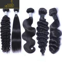 8A 브라질 버진 인간의 머리카락 4 번들 스트레이트 / 바디 웨이브 / 변태 / 곱슬 / 깊은 / 느슨한 물결 모양의 페루 말레이시아 인도 캄보디아 레미 헤어