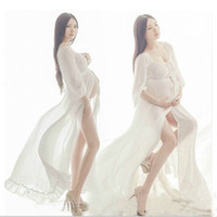 Maternity Long Lace Dresses Pregnant Photography Props Fancy...