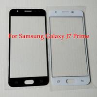 Samsung J7 Başbakan Ekran Yedek parça için Samsung galaxy J5 Başbakan Ön Ekran Cam Panel Dış Lens ile araçları