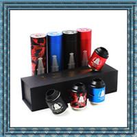 Vaporizador Rig Rig V3 Mod mecânico Mod v3 kit Red Copper RIGV3 Com RDA terk kit fit 18650 RDA atomizadores de alta qualidade DHL livre