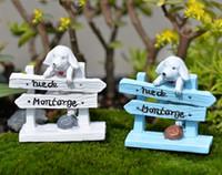2pcs Il recinto del cane Figurine casa terrario Resina Craft House Oranment fata Giardino jardim miniature Gnomi bonsai