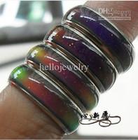 Whloesale 100pcs 믹스 사이즈 분위기 반지가 당신의 내면의 감정을 드러내는 당신의 온도에 색깔을 바꾼다 패션 쥬얼리 무료 배송