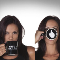 Have A Nice Day Mug Novelty Ceramic Middle Finger Coffee Cup...