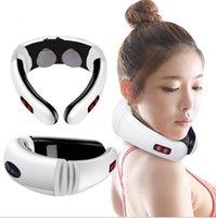 Home Elektrische Puls Nackenmassagegerät Wirbel Behandlung Instrument Therapie Vibration Kissen Relax Massage Health Care Relaxtion Tool