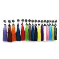 Yepyeni 16 Renkler Uzun Püskül Dangle Küpe Siyah Rhinestone ile Zarif Kadın Moda Takı Ücretsiz Kargo