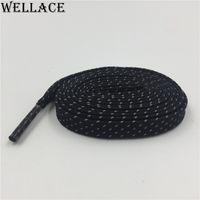 웰빙 3M 플랫 끈 다채로운 부츠 플랫 Tublar 레이스 스타일 3M 반사 신발 끈 맞춤 로고 Sholaces 판매 120cm