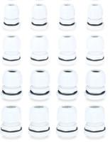 النايلون الأبيض للماء قابل للتعديل كابل الغدة الحبل قبضة تركيب موصل كابل المفاصل السحابة تشكيلة PG7 ، PG9 ، PG11 ، PG13.5 ، PG16