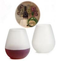 كؤوس النبيذ سيليكون غير قابلة للكسر قسط الغذاء الصف أكواب الشرب أكواب غسالة صحون آمنة قابلة لإعادة التدوير النبيذ نظارات