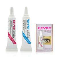 Oeil adhésifs de cils noires blanches blanc cils de maquillage outils de maquillage imperméable cils adhésifs 600pcs libres expédier