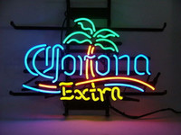"17"" x14"" CORONA EXTRA PALM TREE BEACH BEER BAR ADVE..."
