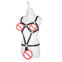 Black PU Harness Teddy Sexy Clothes Restraints Strap Costume...
