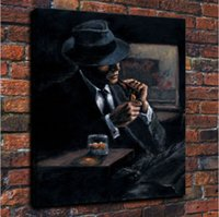 Framed Fabian Perez Whiskey At Las Brujas Handpainted Impres...
