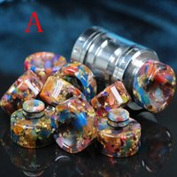 Top Epoxy Resin SS Drip tips Wide Bore 510 dripper tip Mouth...