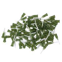"1/2"" 14Ga Olive Plastic&PP Spiral Connector Adhesive Glue Tip Dispensing Blunt Needles Pack of 100"