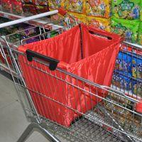 Toptan-Yeniden Kullanılabilir Kepçe Çanta Alışveriş Bakkal Çantası Yalıtımlı Tote Katlanabilir Süpermarket Büyük Kapasite Tutar Arabası Saklama Çantası