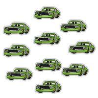 10 pcs carros verdes patches emblemas para roupas ferro bordado patch applique ferro em remendos acessórios de costura para roupas diy