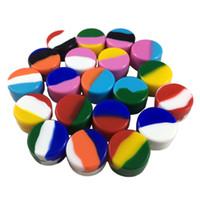 실리콘 항아리 용기 5ML 비 단색 20 색 5 ML 실리콘 왁스 항아리 비 고체 5ML 실리콘 용기 DHL / UPS