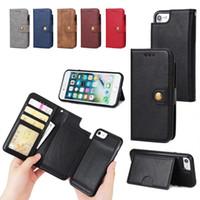 Für iphone 6 7 plus niet schnalle 2 in 1 leder case mit bilderrahmen brieftasche case für iphone x xs max xr 8 samsung s8 plus s6 s7 edge