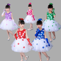 2017 Summer Children Dance Dress Girls Tutu Lace Flower Long...