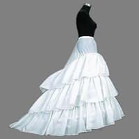 Бесплатная доставка! Поезд 3 слои юбки свадебные свадебные свадебные юридические завалыки Crinoline Hoop высокое качество P419003