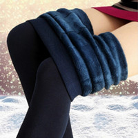 Kadınlar Kış Sıcak Tayt Elastik Yüksek Bel Artı Kadife Kalın Yapay Ince Streç Pantolon Kalın Kadın 8 Renkler