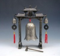 Çin Set Metal Arch FENG SHUI Sazan Balık Ejderha Chime Bells Gong Ev Dekor
