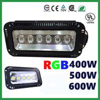 Супер Яркий Открытый 400 Вт 500 Вт 600 Вт RGB Светодиодный Прожектор Цвет Изменение Стены Стиральная Лампа IP65 Водонепроницаемый + ИК-Пульт Дистанционного Управления