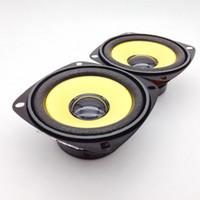 Freeshipping 2pcs 3 pulgadas Full Range Speaker Gold Foam Edge Negro Altavoz multimedia magnético DIY HIFI 4 ohm 10 W 78mm Audio Speakers