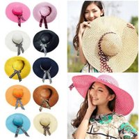 50pcs Wide Brim Floppy Fold Sun Hat Summer Hats for Women Ou...