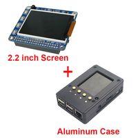 Display LCD TFT da 2,2 pollici Raspberry Pi 3 Freeshipping + Custodia in alluminio nero da custodia anche per Raspberry Pi 2 Modello B