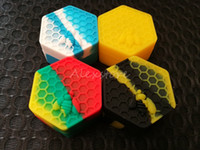 Nonstick Honeybee wax containers 26ml hexagon honey bee sili...