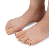Tissu + Gel Tube Coussins Corns et callosités, Toe Protector, Orthopédie Hallux Valgus, Bunion Guard for Feet Care Livraison Gratuite ZA1907