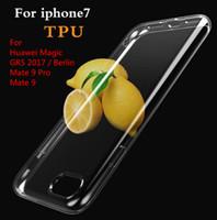 Soft TPU Cas Clair Transparent Couverture Célulaire Pour Apple iPhone 7 Mince De Protection Shell Fundas pour Huawei Magic GR5 2017 / Berlin Mate 9 Pro