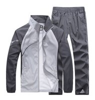 fashion men' s casual tracksuits patchwork sportswear co...