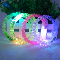 Acryl LED Flash Armband Glitter Glow Light Hand Ring Sticks Leuchtende Kristall Farbverlauf Bunte Bangle Atemberaubende Dance Party Weihnachtsgeschenk